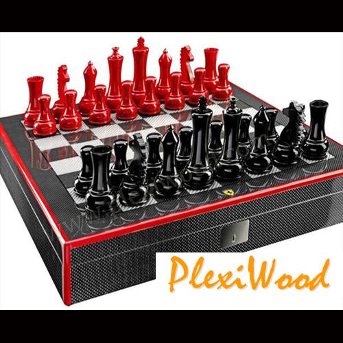 Luxury customized chess set by Ferrari - PlexiWood.com