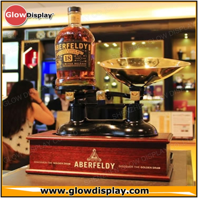 Aberfeldy Highland Single Malt Scotch Whisky Bottle Display - PlexiWood.com