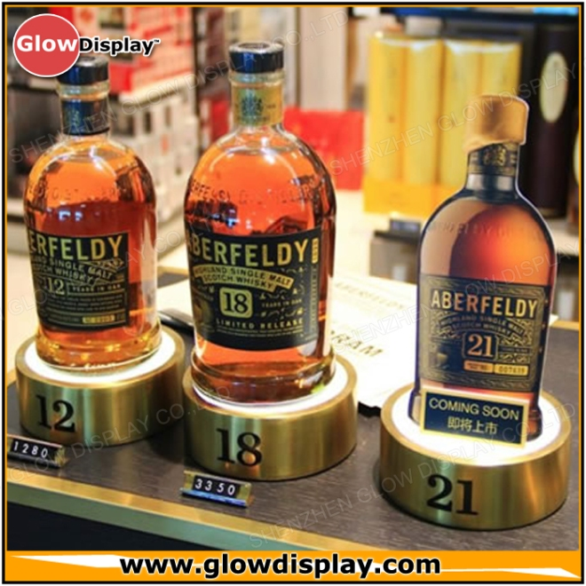 Aberfeldy Highland Single Malt Scotch Whisky Bottle Glorifier - PlexiWood.com