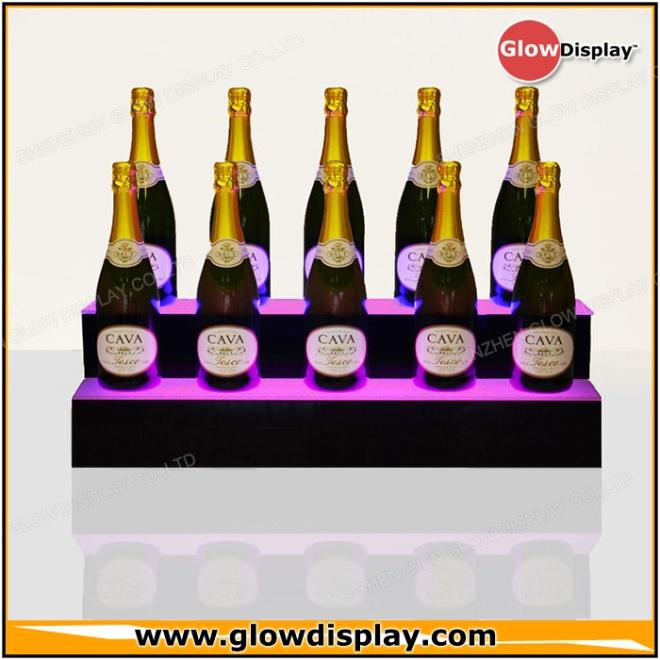 Champagne Display Shelf - PlexiWood.com
