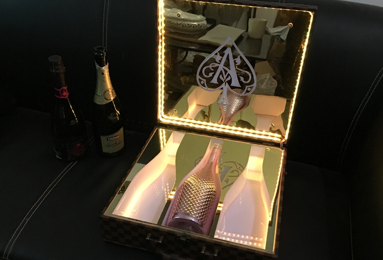LED Ace of Spade VIP Bottle Carry Case