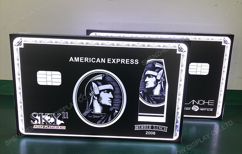 Black Card American Express Bottle Presenter