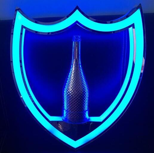 Dom Perignon Shield VIP Bottle Presenter